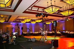 Corporate event party with live entertainment