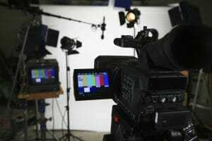 Picture sample of video production in a studio.