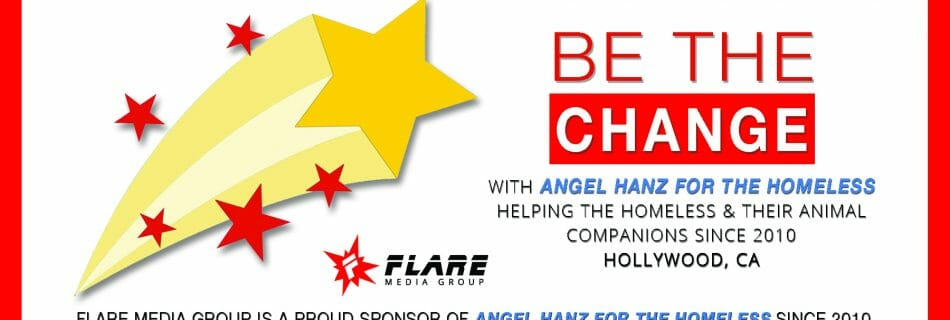 Sponsored Angel Hanz for the Homeless Banner from Flare Media Group