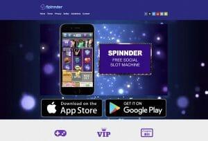 Spinnder social slot machine app