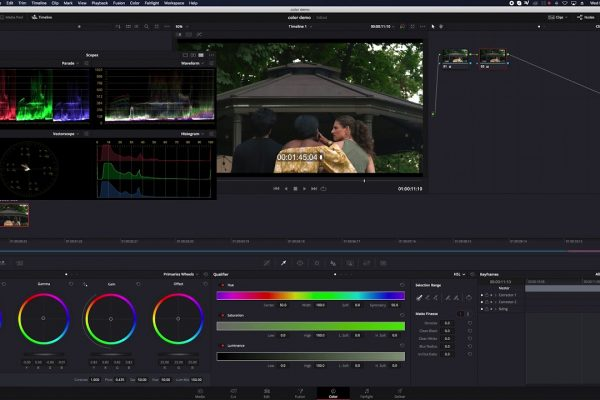 Post production color correction in Davinci Resolve