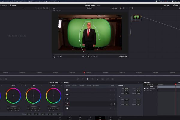 Post production video editing in Davinci Resolve and Adobe Premiere